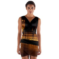 Houses Of Parliament Wrap Front Bodycon Dress