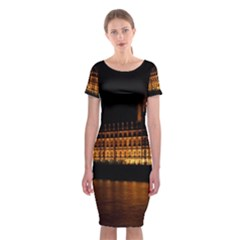 Houses Of Parliament Classic Short Sleeve Midi Dress