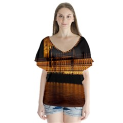 Houses Of Parliament Flutter Sleeve Top