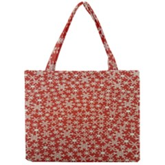 Holiday Snow Snowflakes Red Mini Tote Bag