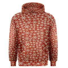Holiday Snow Snowflakes Red Men s Pullover Hoodie
