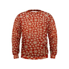 Holiday Snow Snowflakes Red Kids  Sweatshirt