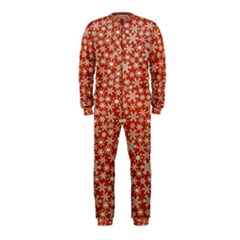 Holiday Snow Snowflakes Red OnePiece Jumpsuit (Kids)