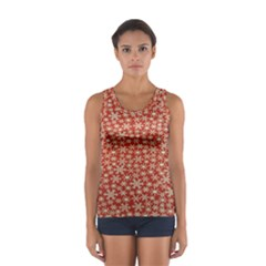 Holiday Snow Snowflakes Red Women s Sport Tank Top