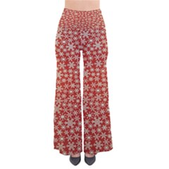 Holiday Snow Snowflakes Red Pants