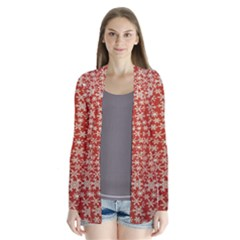Holiday Snow Snowflakes Red Cardigans