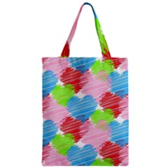 Holidays Occasions Valentine Zipper Classic Tote Bag