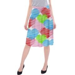 Holidays Occasions Valentine Midi Beach Skirt