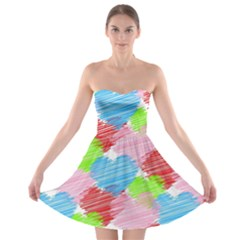 Holidays Occasions Valentine Strapless Bra Top Dress