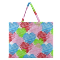 Holidays Occasions Valentine Zipper Large Tote Bag