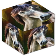 Horse Horse Portrait Animal Storage Stool 12