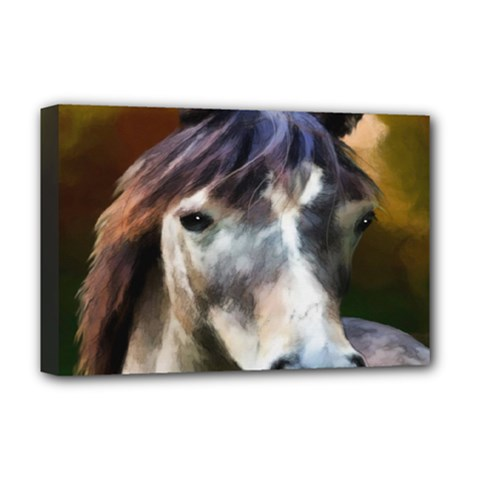 Horse Horse Portrait Animal Deluxe Canvas 18  X 12