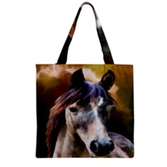 Horse Horse Portrait Animal Grocery Tote Bag