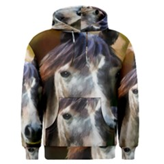 Horse Horse Portrait Animal Men s Pullover Hoodie