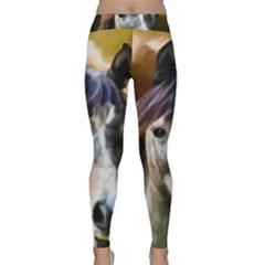 Horse Horse Portrait Animal Classic Yoga Leggings