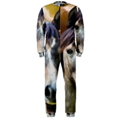 Horse Horse Portrait Animal OnePiece Jumpsuit (Men)