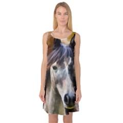 Horse Horse Portrait Animal Sleeveless Satin Nightdress