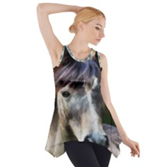 Horse Horse Portrait Animal Side Drop Tank Tunic