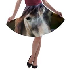 Horse Horse Portrait Animal A-line Skater Skirt