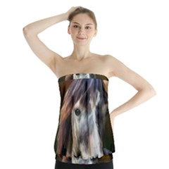 Horse Horse Portrait Animal Strapless Top
