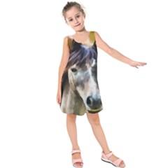 Horse Horse Portrait Animal Kids  Sleeveless Dress