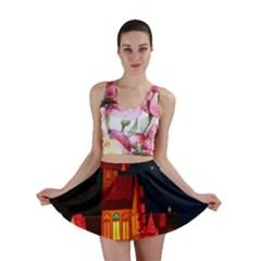 Market Christmas Light Mini Skirt