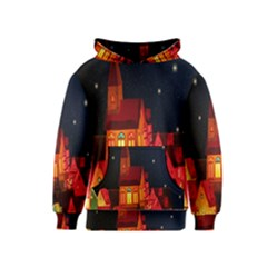 Market Christmas Light Kids  Pullover Hoodie