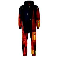 Market Christmas Light Hooded Jumpsuit (men)