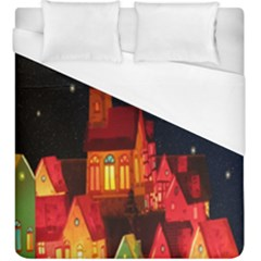 Market Christmas Light Duvet Cover (king Size)