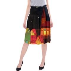 Market Christmas Light Midi Beach Skirt