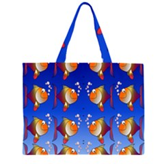 Illustration Fish Pattern Large Tote Bag