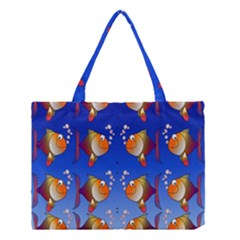 Illustration Fish Pattern Medium Tote Bag