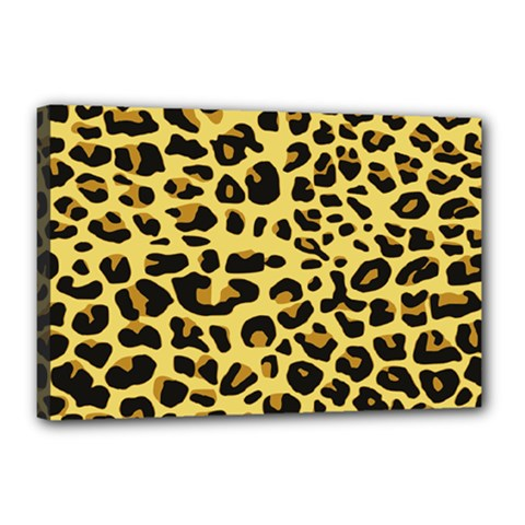 Jaguar Fur Canvas 18  x 12