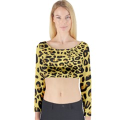 Jaguar Fur Long Sleeve Crop Top