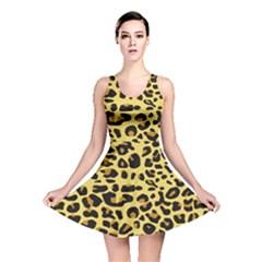 Jaguar Fur Reversible Skater Dress