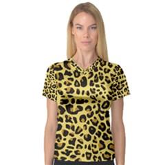 Jaguar Fur Women s V Neck Sport Mesh Tee