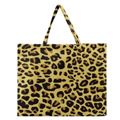Jaguar Fur Zipper Large Tote Bag