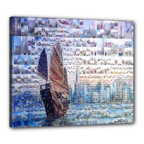 Hong Kong Travel Canvas 24  x 20