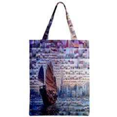 Hong Kong Travel Zipper Classic Tote Bag