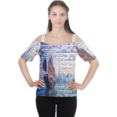 Hong Kong Travel Women s Cutout Shoulder Tee