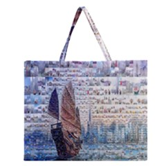 Hong Kong Travel Zipper Large Tote Bag