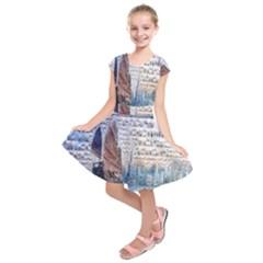 Hong Kong Travel Kids  Short Sleeve Dress