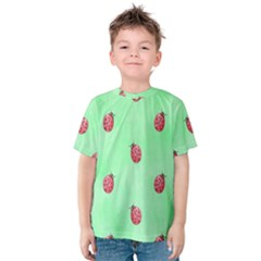 Ladybug Pattern Kids  Cotton Tee