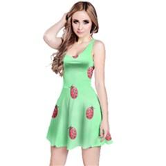 Ladybug Pattern Reversible Sleeveless Dress