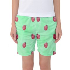 Ladybug Pattern Women s Basketball Shorts