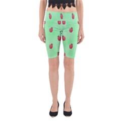 Ladybug Pattern Yoga Cropped Leggings