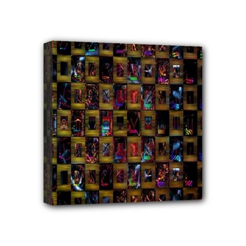 Kaleidoscope Pattern Abstract Art Mini Canvas 4  x 4
