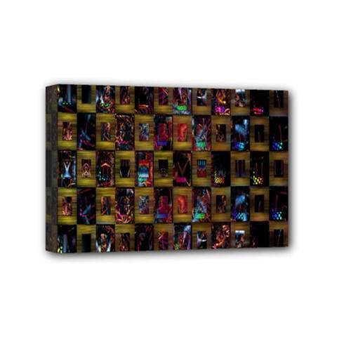Kaleidoscope Pattern Abstract Art Mini Canvas 6  X 4