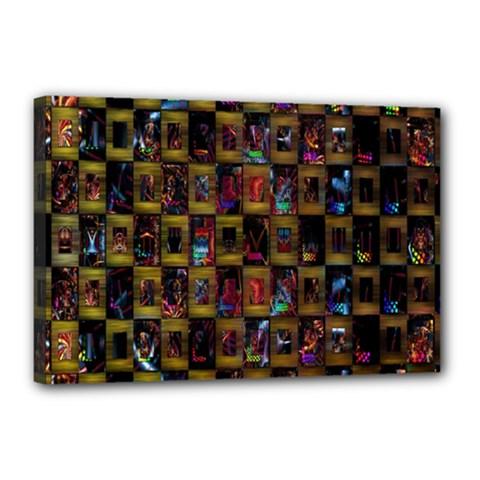 Kaleidoscope Pattern Abstract Art Canvas 18  x 12