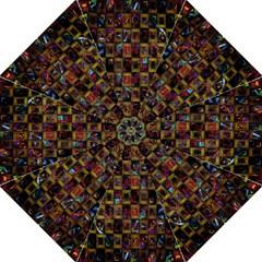 Kaleidoscope Pattern Abstract Art Folding Umbrellas